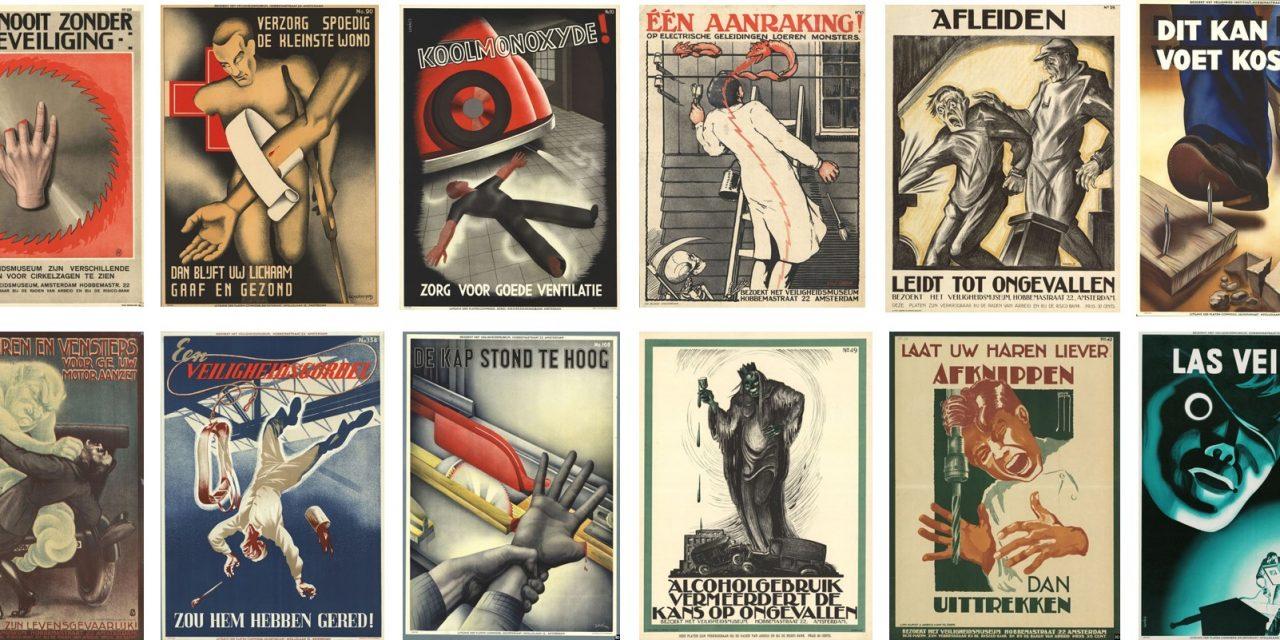 Estos carteles holandeses de riesgos laborales de primeros del siglo XX son dignos del cine de terror