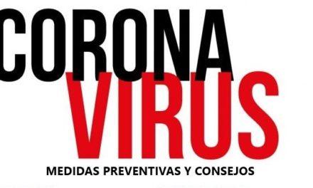 Medidas de prevención y consejos contra el coronavirus